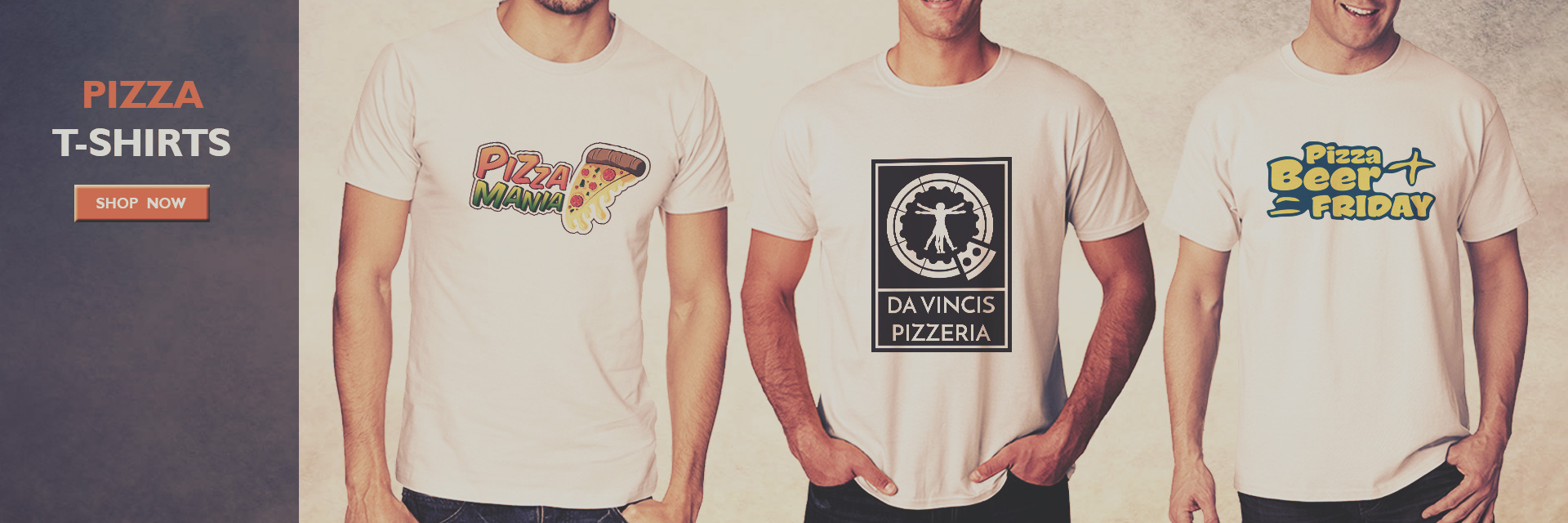 Buy Pizza T-Shirts